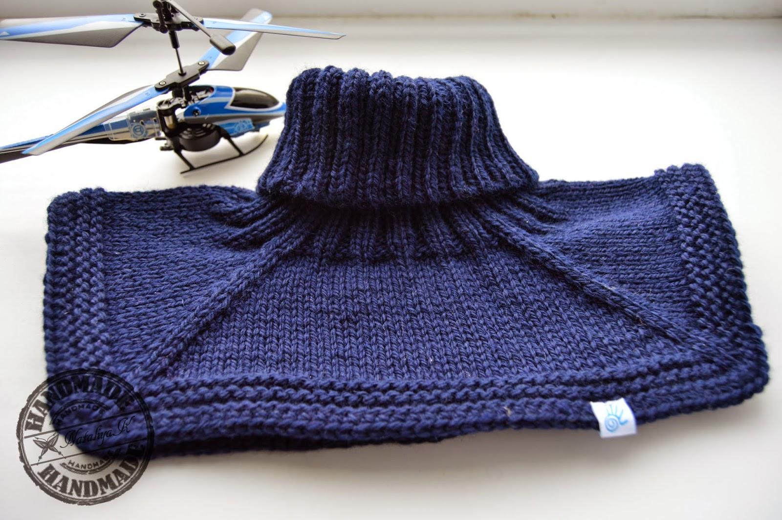 Манишка для мальчика спицами, схема вязания для 74