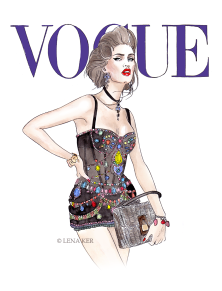 Fashion Book Cover Art ~ Artwork by lena ker inspiration vogue japan march