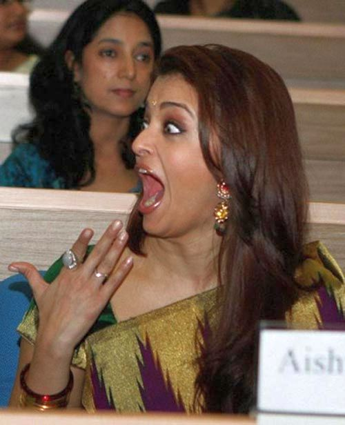 aishwarya rai, bollywood actress, mouth open, shocked
