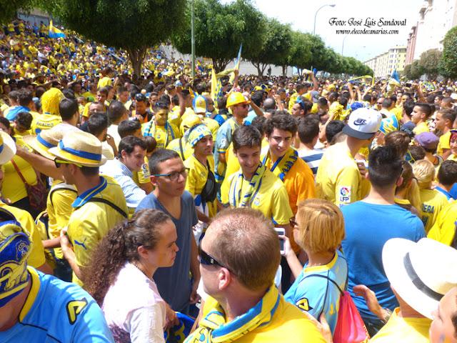 Euforia para recibir a Las Palmas que juega ascenso a primera ante el zaragoza