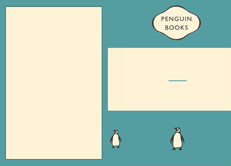 Penguin Book Cover Merchandise ~ Template design thomas knapp
