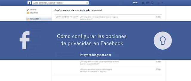 Cómo configurar las opciones de privacidad en Facebook