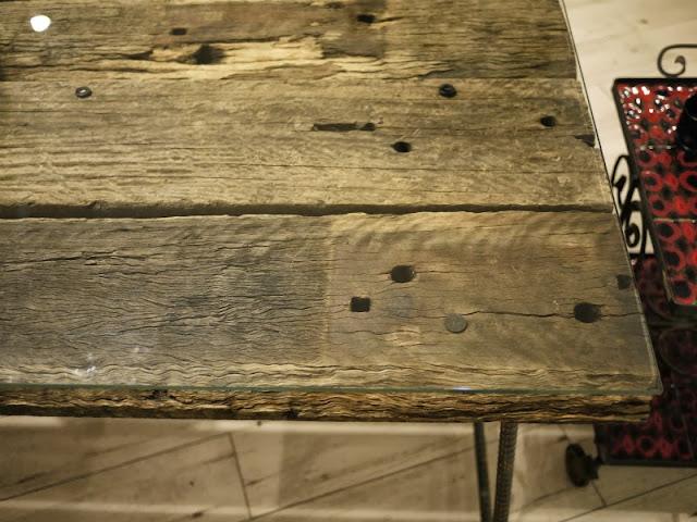 枕木テーブル ユーカリ 中古 スライス