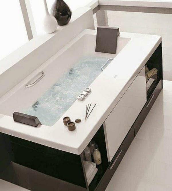 Baño pequeno con banera ~ dikidu.com