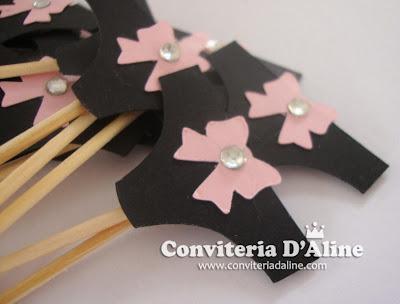 decoração chá lingerie rosa preto