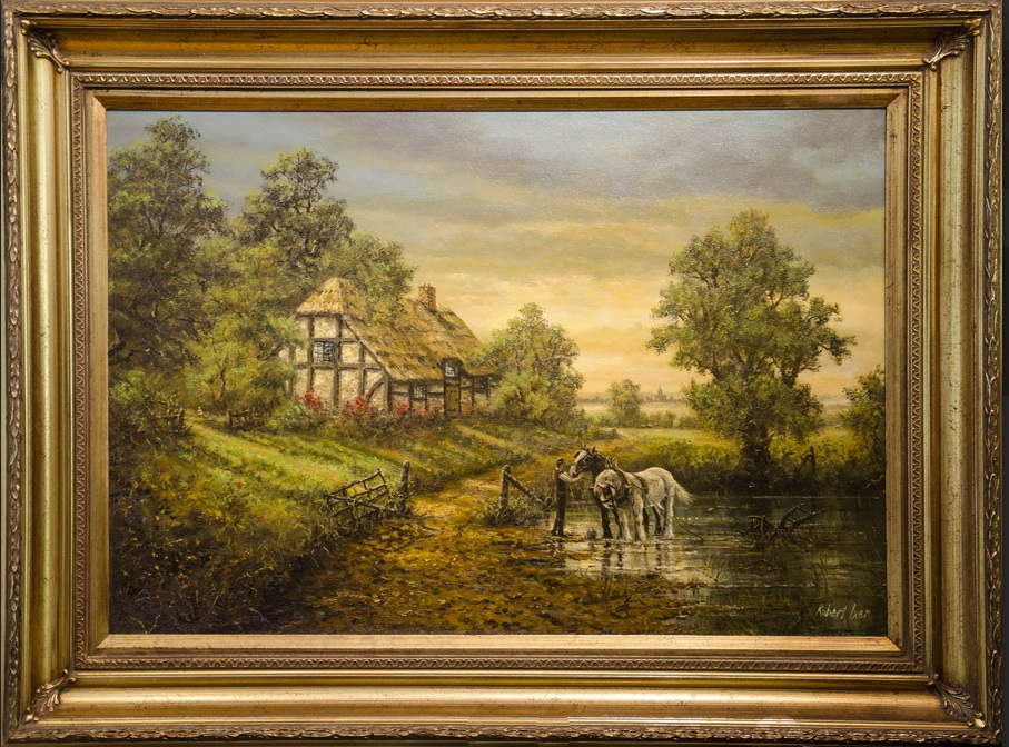 Robert Ixer Landscape Artist: This artwork was sold in an ...