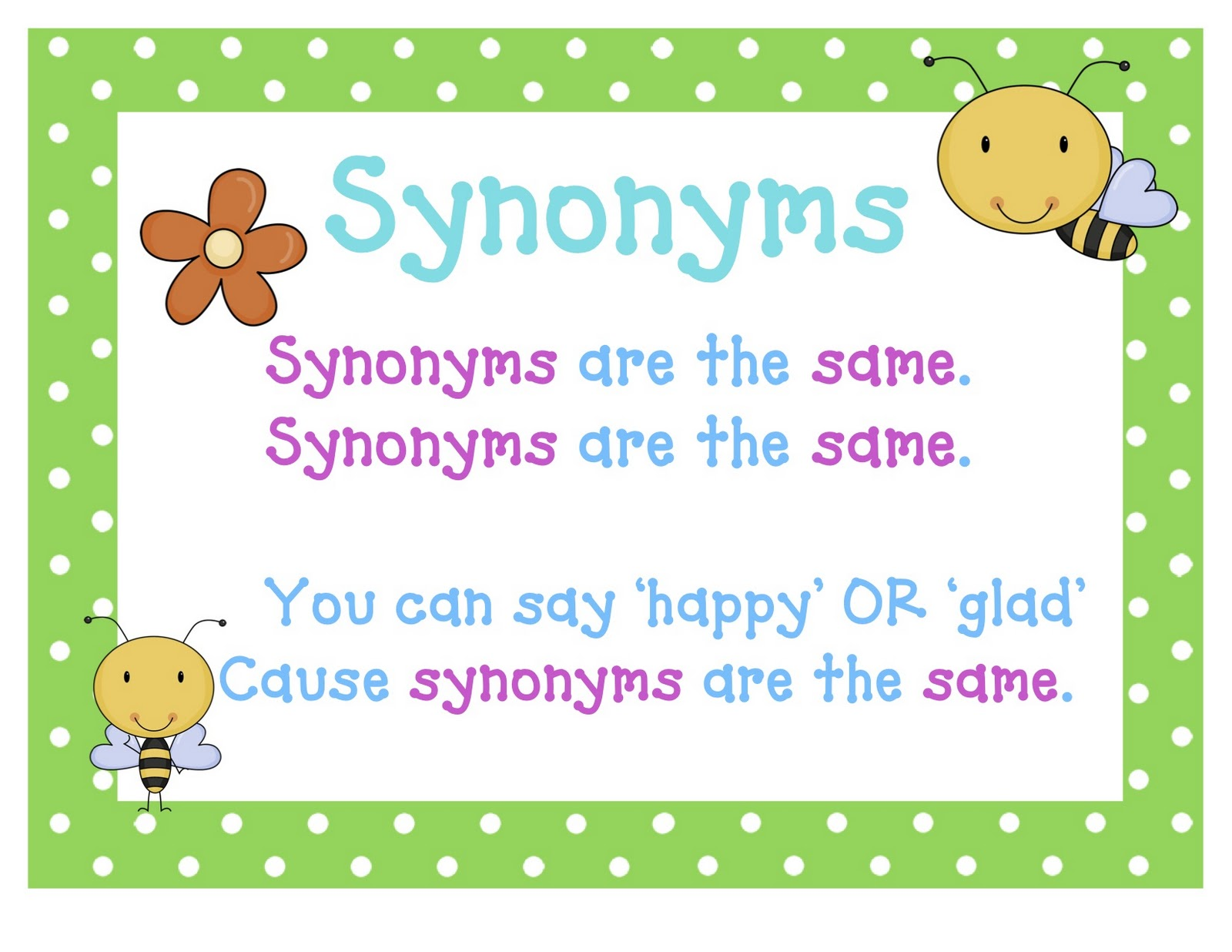 worksheet What Is A Synonym And Antonym synonyms and antonyms a little thesaurus lessons tes teach buzzing with ms b december 2011