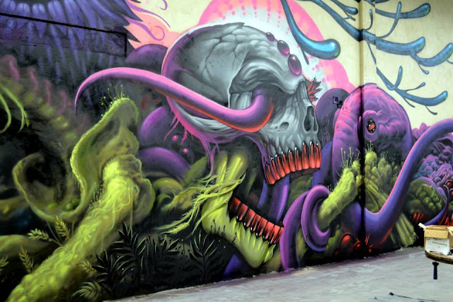 Street Art Collaboration By Jeff Soto And Maxx242 For Goodbye Monopol 2 In Luxembourg City. 7