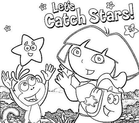 Preschool Coloring Sheets Dora Explorerdora Explorer Coloring Pages