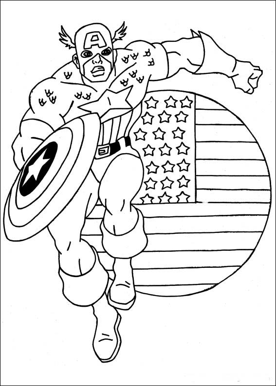 Coloring pictures captain america coloring pictures for Coloring pages captain america
