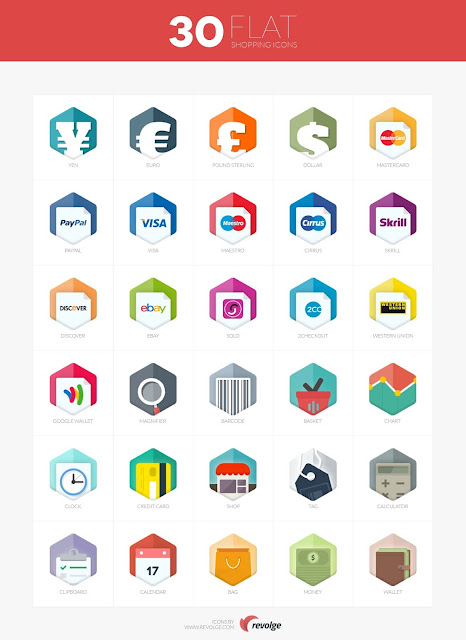 30 flat icons 10 Amazing Free Download Flat Icons PSD
