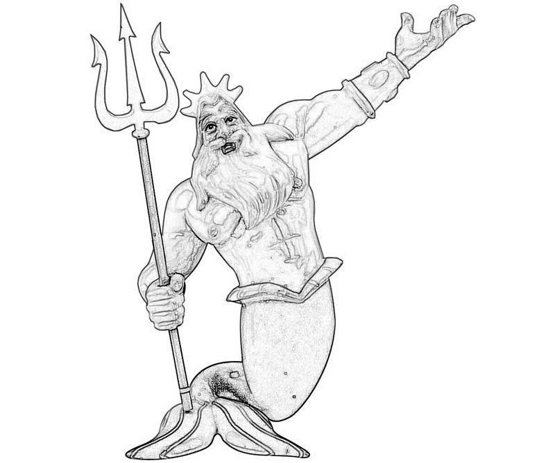 king-triton-funny-coloring-pages
