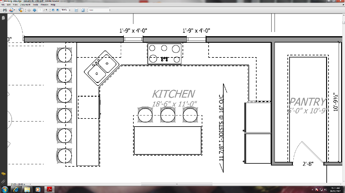 Thousand square feet kitchens on my mind your opinions for Kitchen floor plans with island and walk in pantry