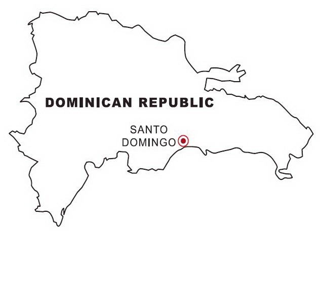 Dominican republic map coloring color area for Dominican republic coloring pages