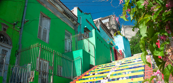 Let's colour project, Rio de Janeiro, green buildings, painted buildings, lapa stairs, brazil, Catholic wedding blog, Catholic wedding, Catholic marriage prep, Catholic bride