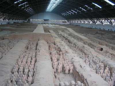 terracotta warriors army
