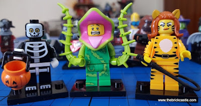 LEGO Minifigures Series 14:Skeleton Guy Plant Man Tiger Woman