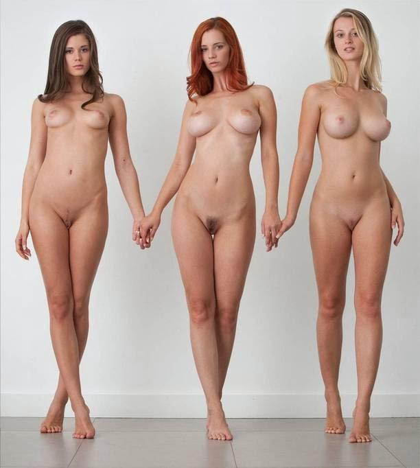 Tres novias desnudas