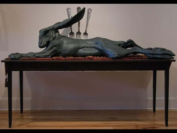 Beth Cavener Stichter esculturas animais psicologia humana