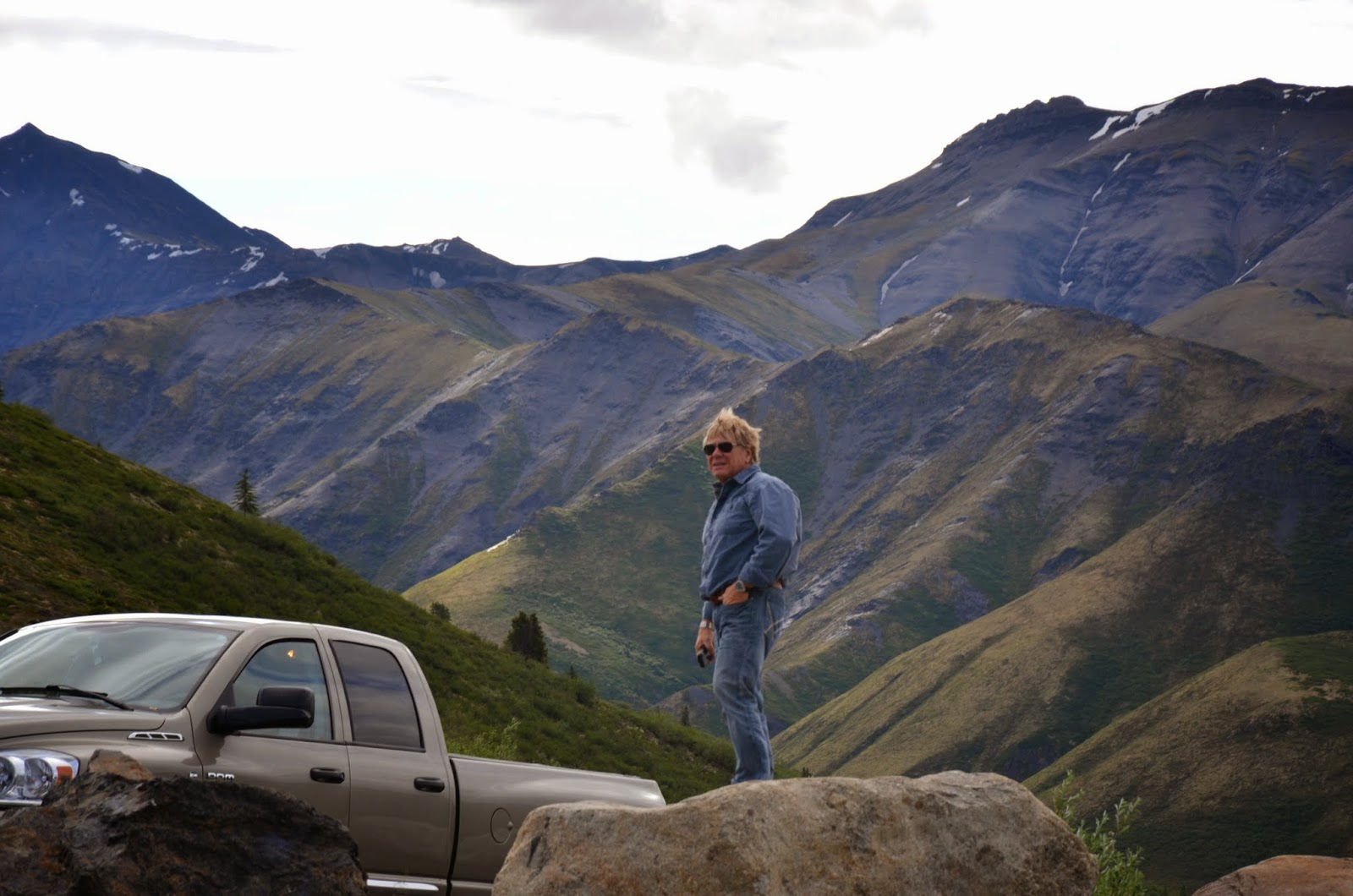 Anders in Tombstone Territorial Park.