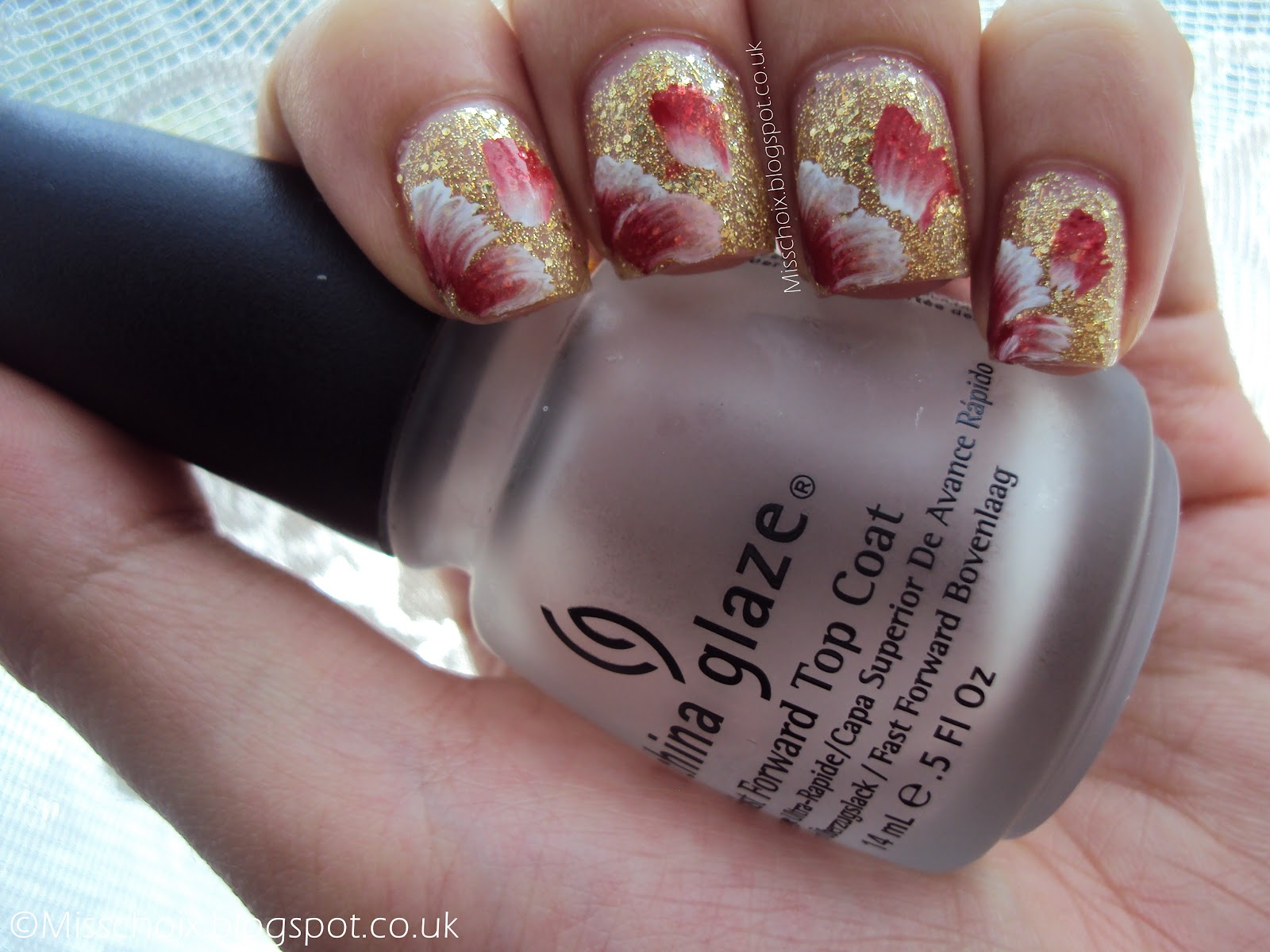 Notd First Proper Attempt At One Stroke Nail Art Chois Nails