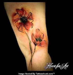 Abstract Flower Tattoo Designs