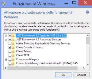 funzioni windows da rimuovere