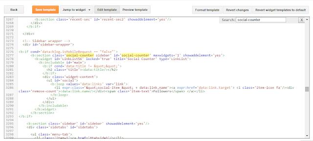 blogger hide widget code