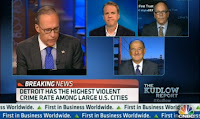 Screenshot Image of CNBC's The Kudlow Report Discussion on Detroit's Bankruptcy on 07-18-2013