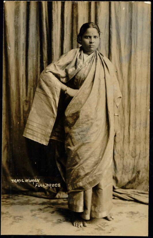 Tamil Woman in Sari - Singapore Circa 1930