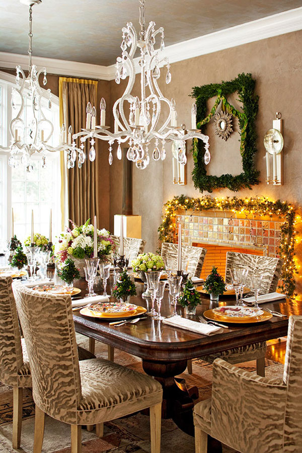 Fascinating articles and cool stuff christmas decoration for Christmas dining room table decorations