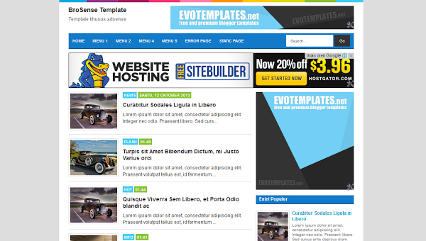 Template Blog Seo Friendly Terbaik 2014 Adsense Ready