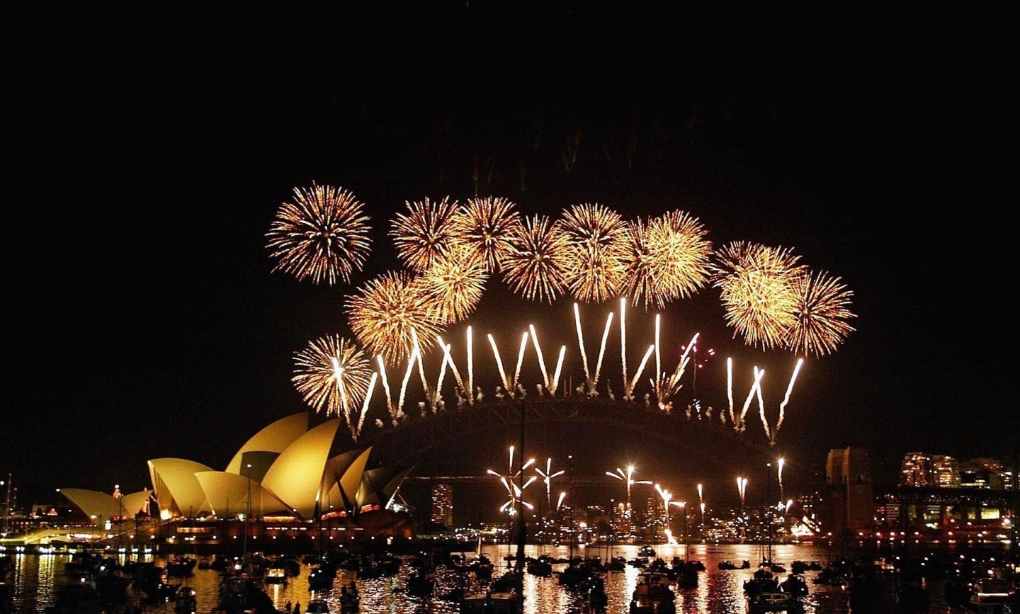 latest happy new year fireworks hd wallpapers