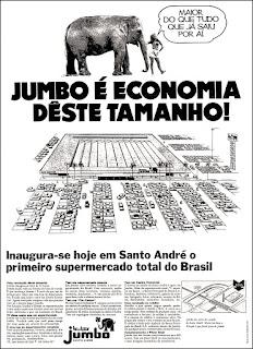 Pão de Açucar - Jumbo,  reclame década de 70;  propaganda década de 70; Brazil in the 70s; Reclame anos 70; História dos anos 70; Oswaldo Hernandez;
