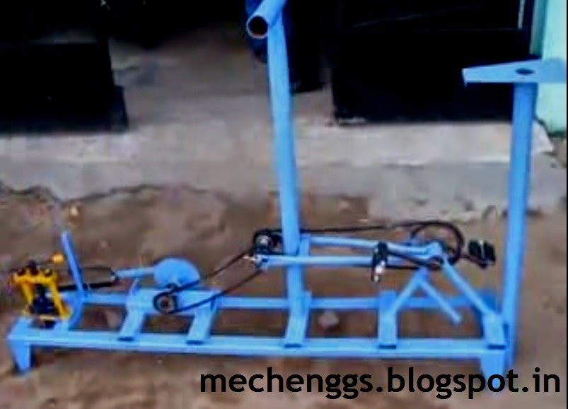 Pedal Operated dual chain hacksaw