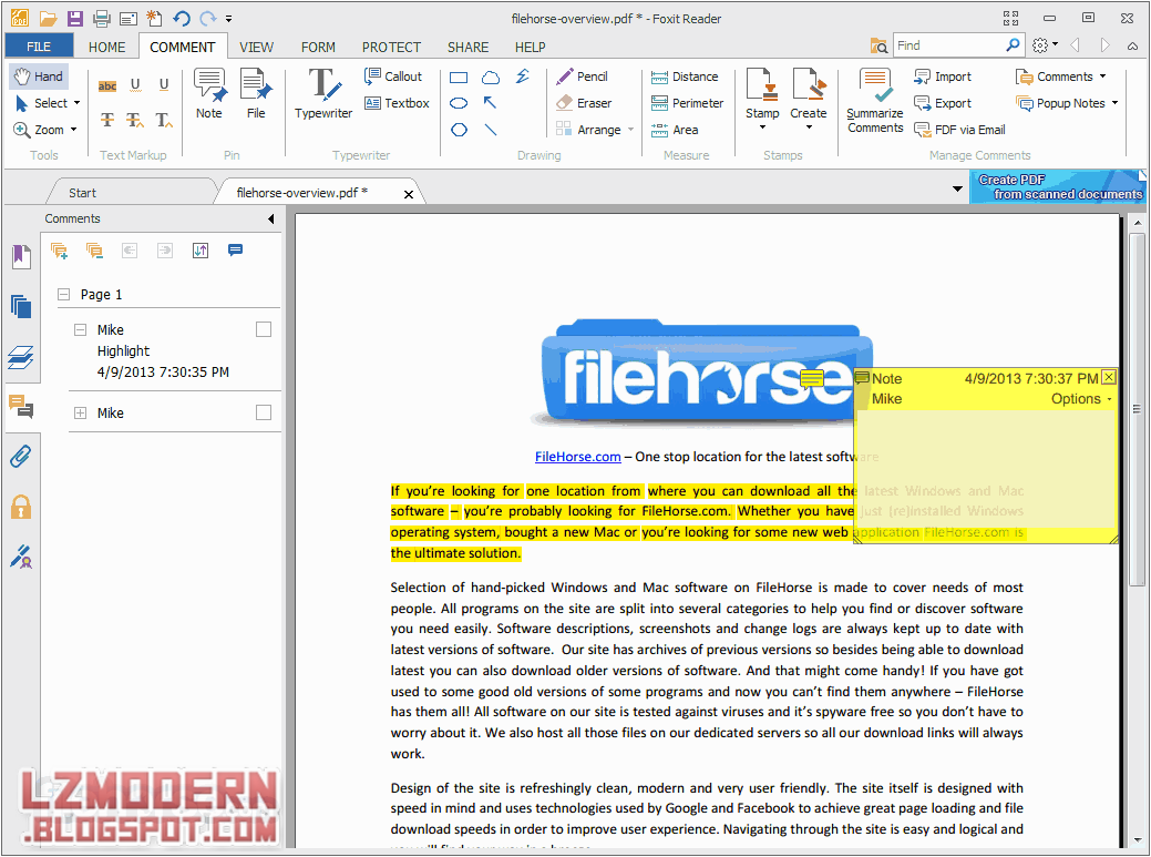 Foxit Reader 6.1.2 - Best PDF Viewer & Editor