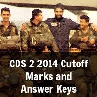 CDS 2 2014 Cutoff Marks and Answer Keys
