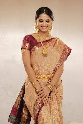 Actress Anushka in Bridal Saree Photos
