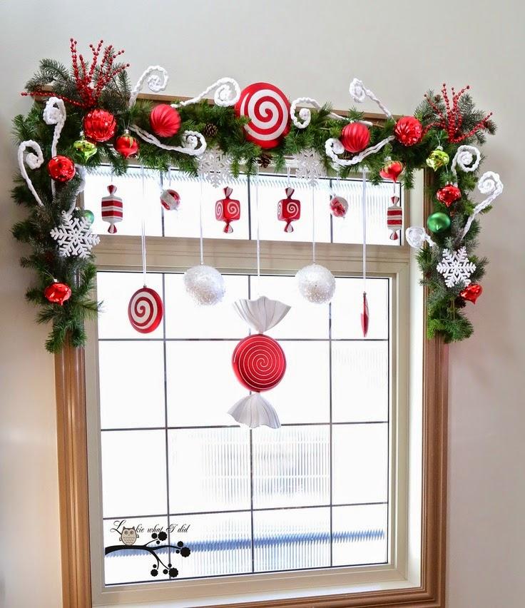 Decoraci n de ventanas para navidad mimundomanual - Decoracion navidena artesanal ...
