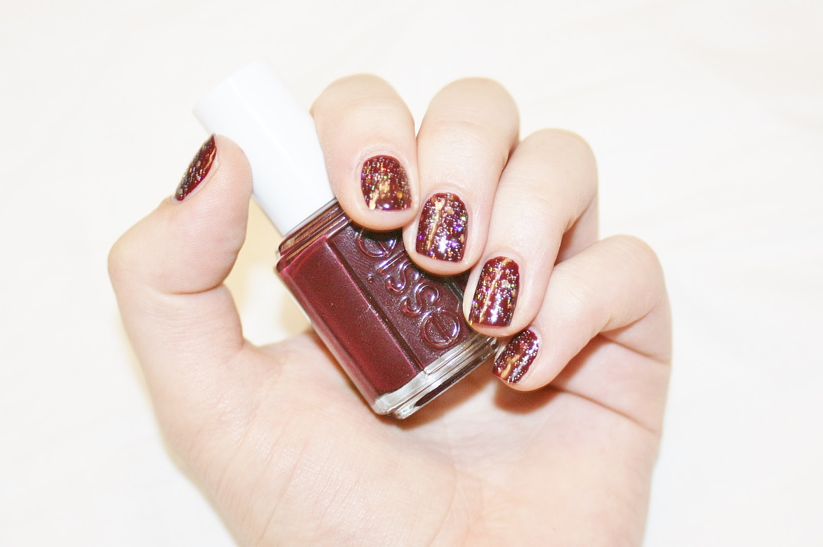 Katherine Penney Chic essie shearling darling rimmel glitter nail polish