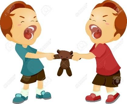 Kids Sharing Clipart Black And White Violencia Escol...