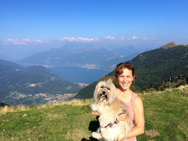 view from Monte di Tremezzo dog friendly hiking near Lake Como