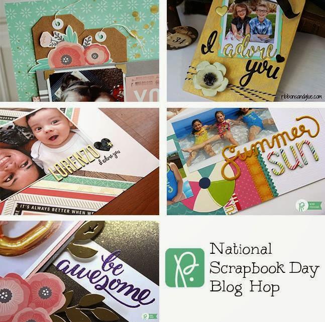 Becki Adams National Scrapbook Day With Pebbles Blog Hop Giveaway