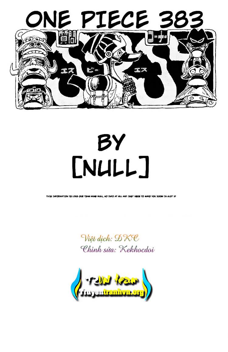 One Piece - Đảo Hải Tặc chap 383 page 18 - IZTruyenTranh.com