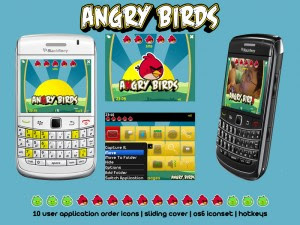 Tema BlackBerry 8520 Angry Birds