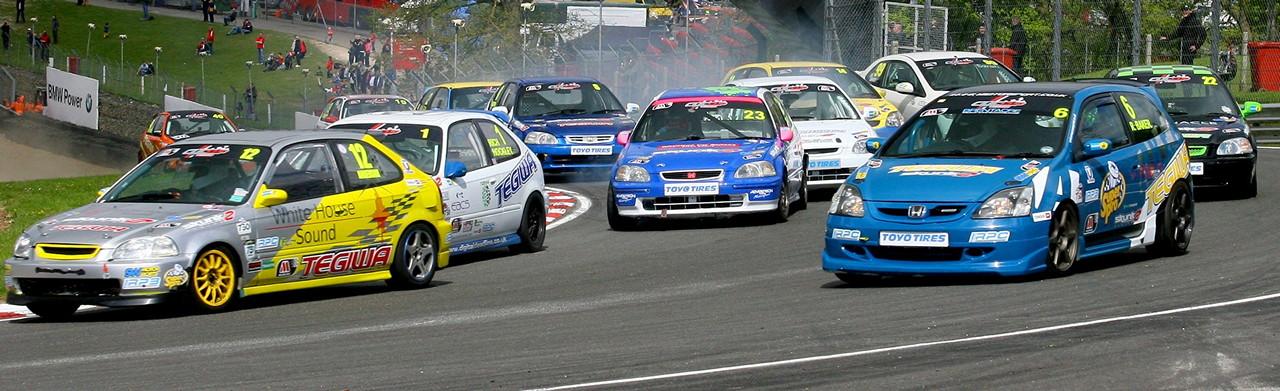 Typowa Honda, Civic, badass, wyścigi, VTEC is kicking in yo, liga wyścigowa, sportowe, スポーツカー、チューニングカー、自動車競技