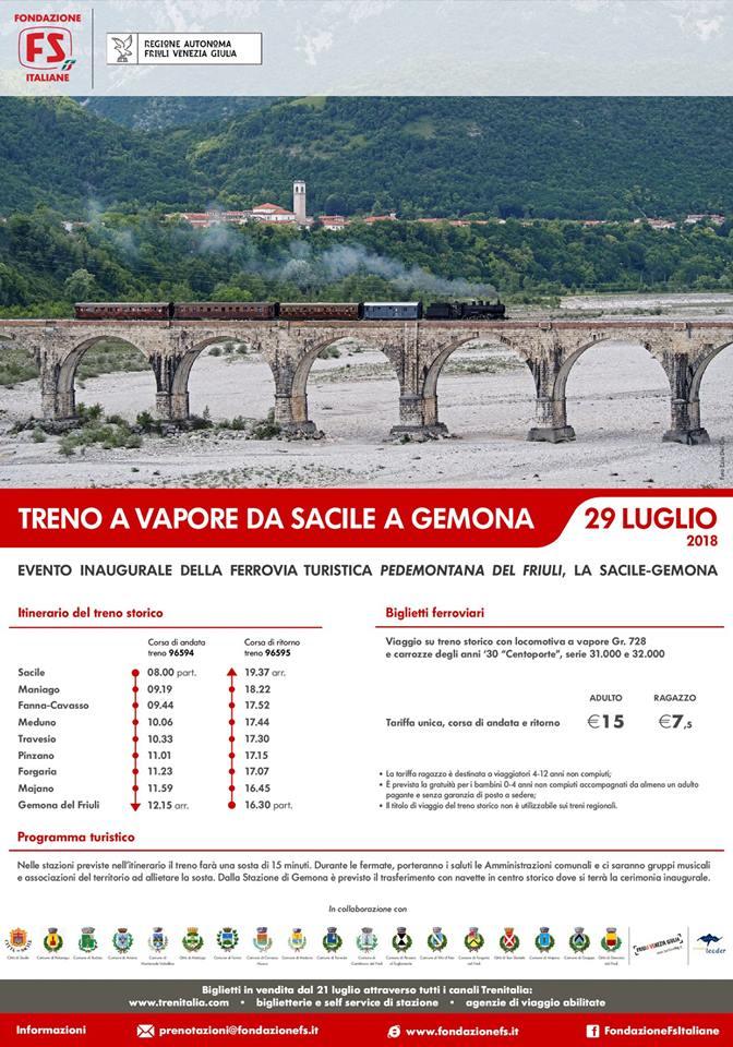 Inaugurazione Ferrovia Turistica Pedemontana del Friuli