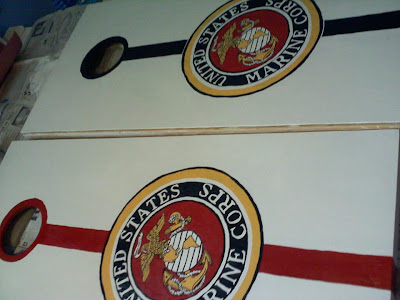 Marines Corn Hole Game Set