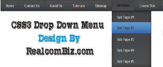 add awesome CSS3 drop down menu to blogger
