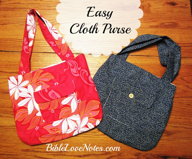 sewing purse Hawaiian cloth